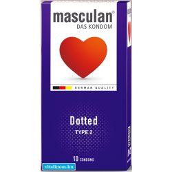 Masculan-2 érdesített óvszer - 10 db