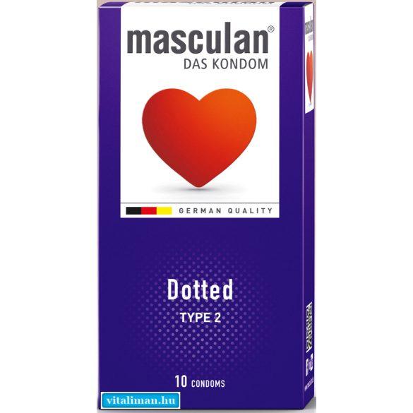 Masculan érdesített óvszer - 10 db