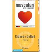Masculan bordázott óvszer - 10 db