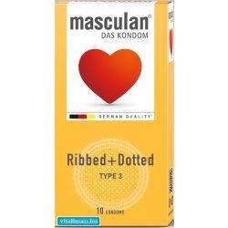 Masculan-3 bordázott óvszer - 10 db