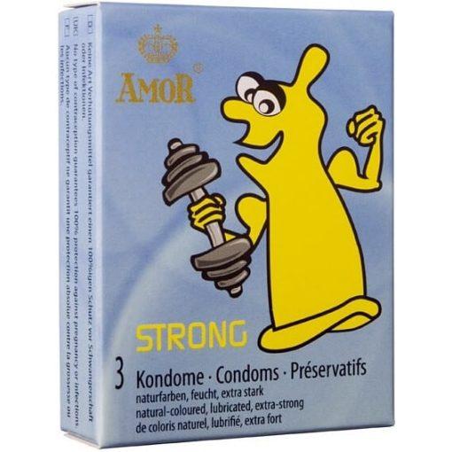 AMOR STRONG extra erős óvszer - 3 db