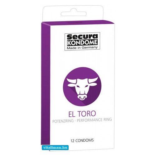 Secura El Toro - potenciagyűrűs óvszer - 12 db