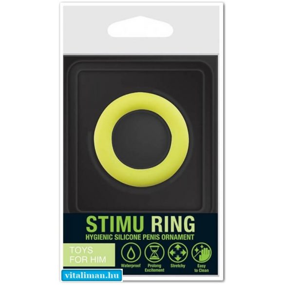 Stimu Ring Green péniszgyűrű 37 mm - 1 db