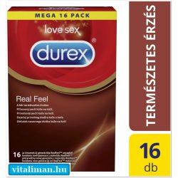 Durex Real Feel (természetes érzés) óvszer - 16 db