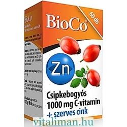 BioCo CSIPKEBOGYÓS C-1000 VITAMIN + SZERVES CINK - 60 db