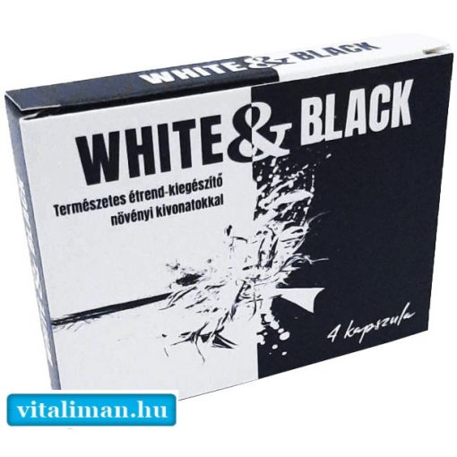 WHITE & BLACK - 4 kapszula