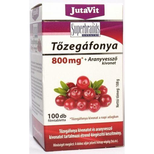 JutaVit Tőzegáfonya 800 mg + Aranyvessző kivonat - 100 db
