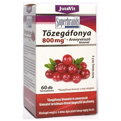 JutaVit Tőzegáfonya 800 mg + Aranyvessző kivonat - 60 db