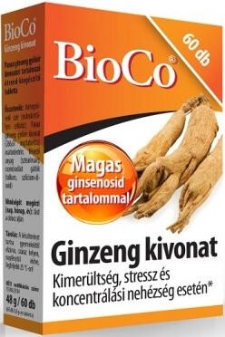 BioCo Ginzeng kivonat - 60 tabletta