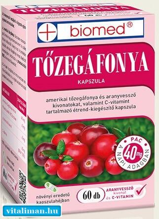 Biomed Tőzegáfonya - 60 kapszula